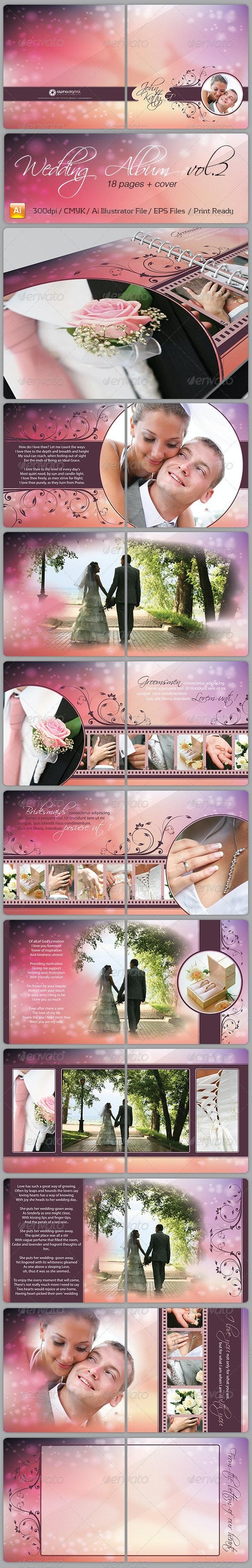 Wedding Album Vol.2 - Photo Albums Print Templates