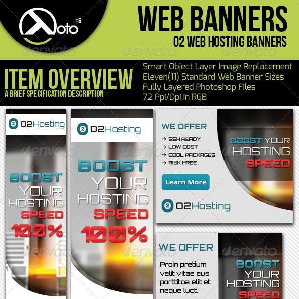 O2 Web Hosting Web Banners