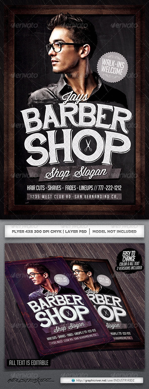 Barbershop Flyer Template - Corporate Flyers