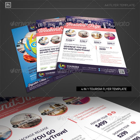 World Travel Tourism Flyer Template