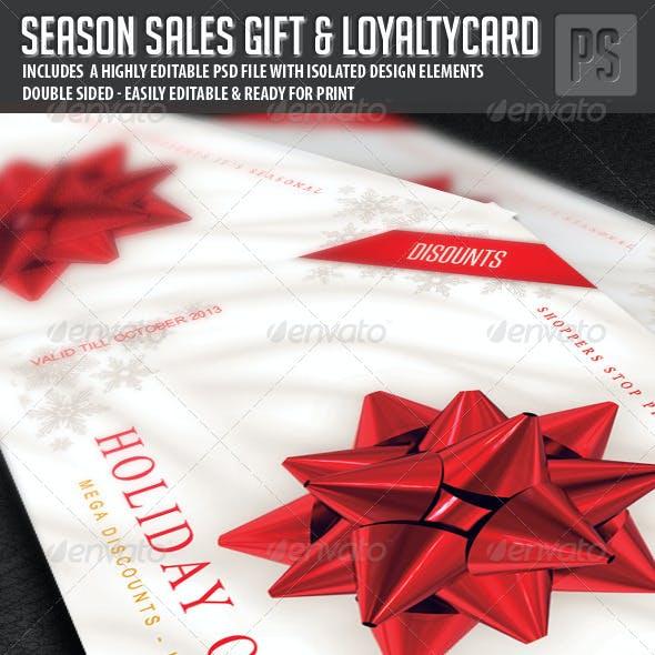 Season Sales Gift Card / Loyalty Card