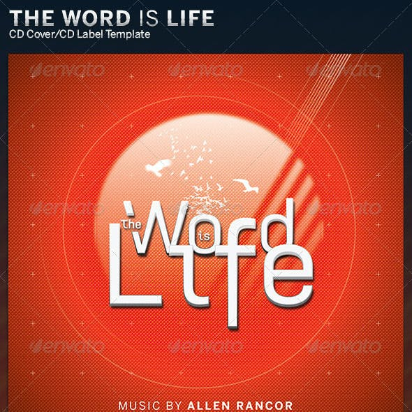 The Word Is Life: CD Cover Artwork Template