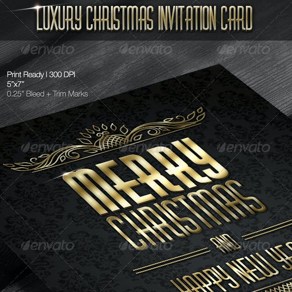 Luxury Christmas Invitation Card