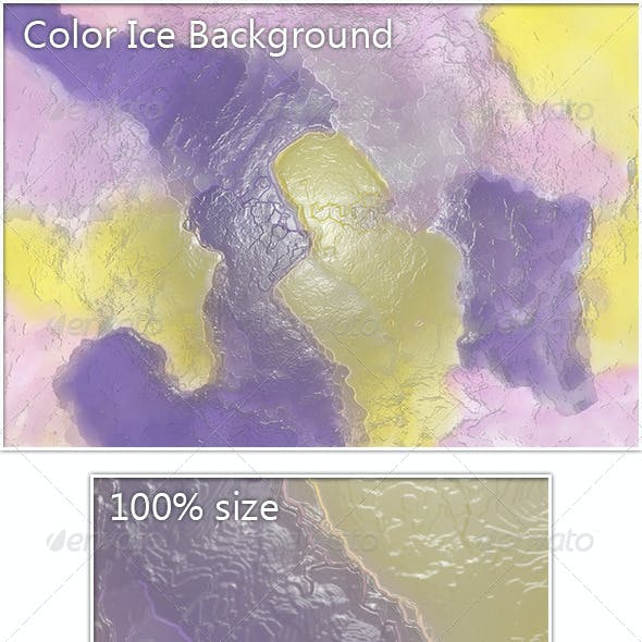 Color Ice Background