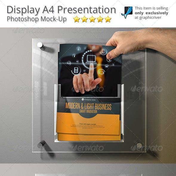 Mock-Up A4 Display Brochure Box