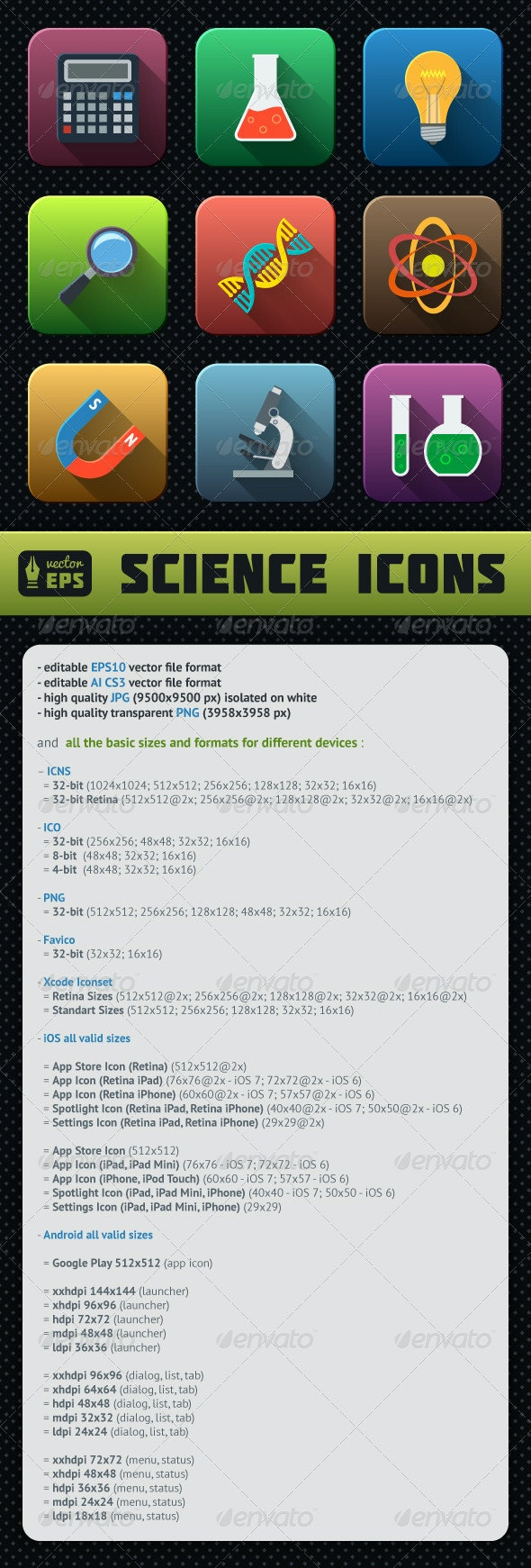 Science Icons Pack - Technology Icons