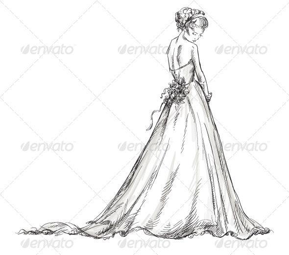 Bride. Girl in a Wedding Dress - Weddings Seasons/Holidays