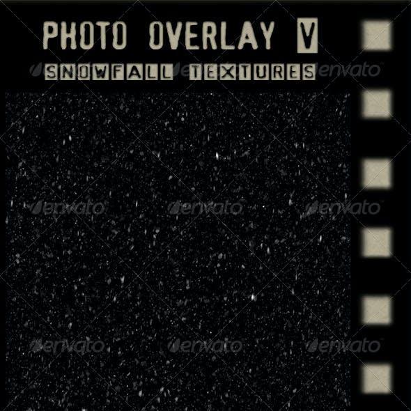 Photo Overlay Snowfall Textures
