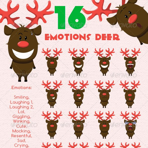 Emotions Christmas Reindeer with a Red Nose