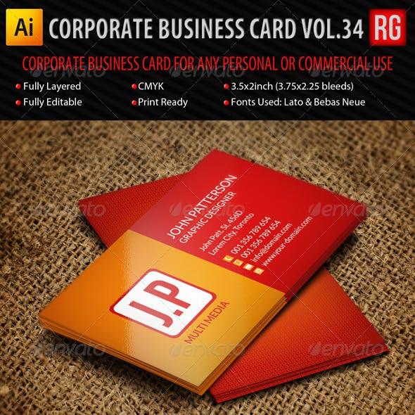 Corporate Business Card Vol.34