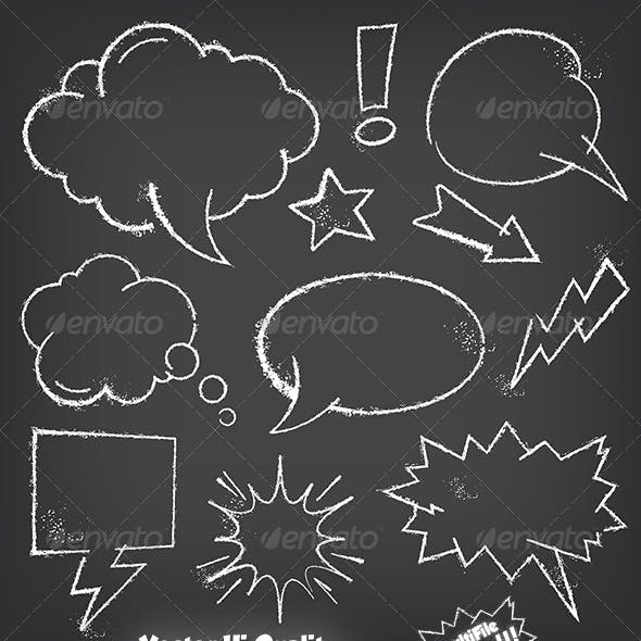 Chalkboard Speech Balloon Set