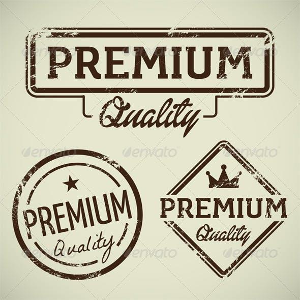 Premium Quality Vector Stamp