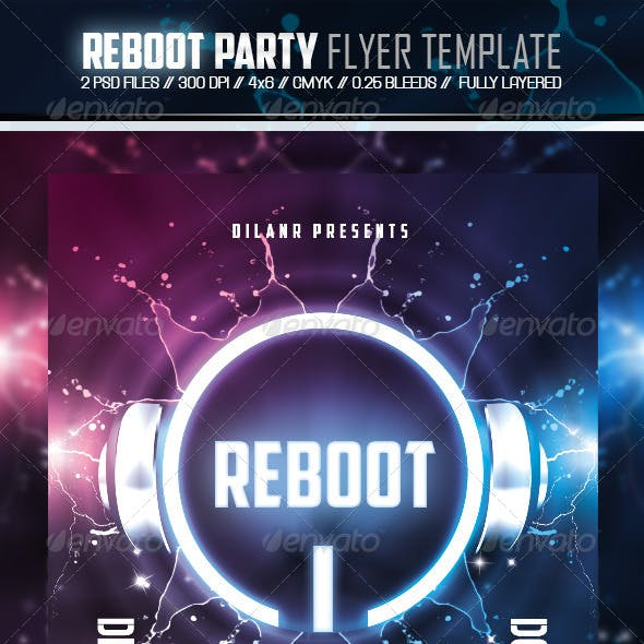 Reboot Party Flyer Template
