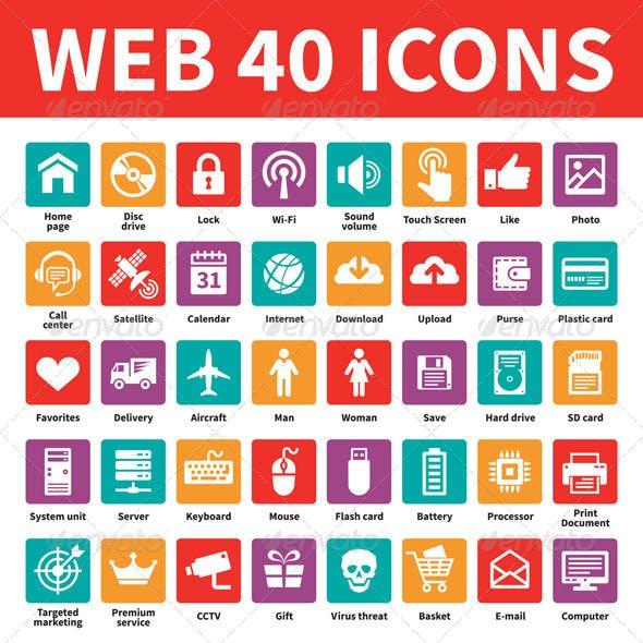 Web 40 Icons