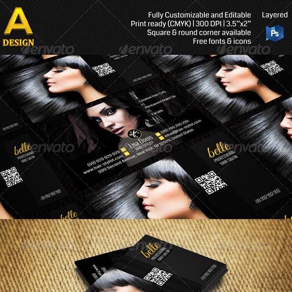 Hair Salon Business Card AN0112