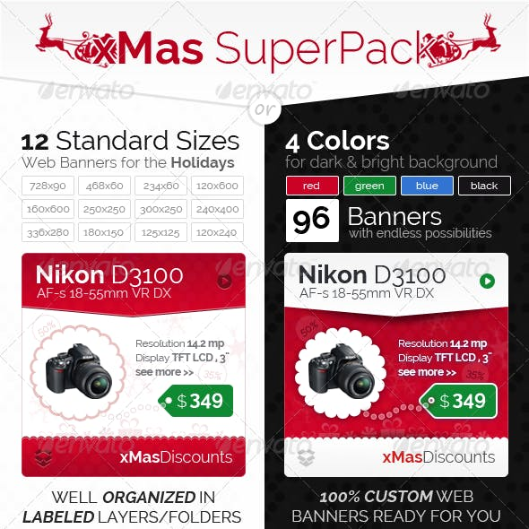 xMas SuperPack - Product Banner Set