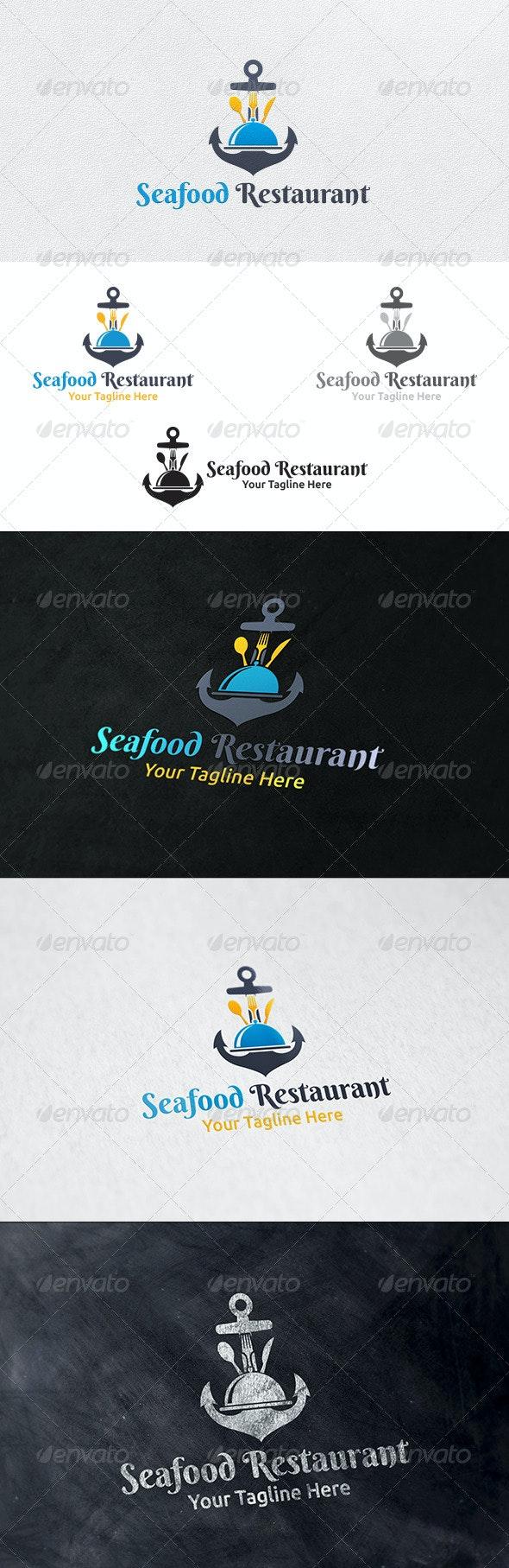 Seafood Restaurant - Logo Template  - Restaurant Logo Templates
