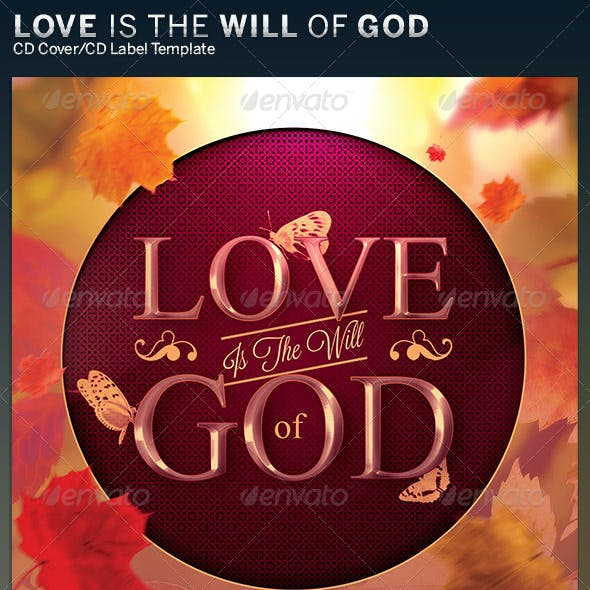 Love is the Will of God: CD Cover Artwork Template