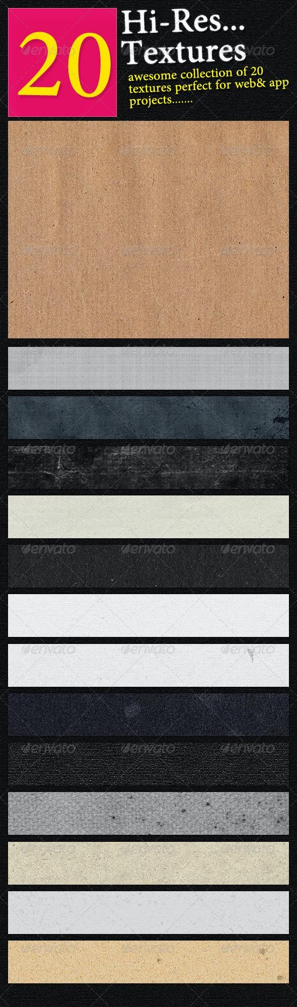 20 Hi-End Textures For Web&app Designers - Miscellaneous Textures