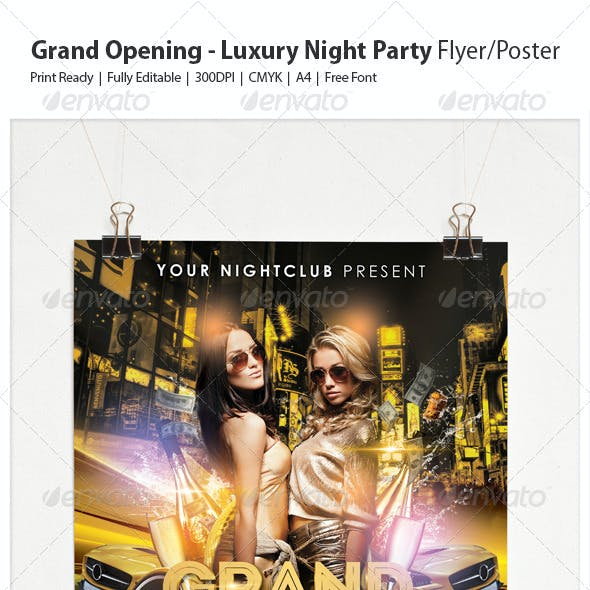 Grand Opening - Luxury Night Party Flyer/Poster