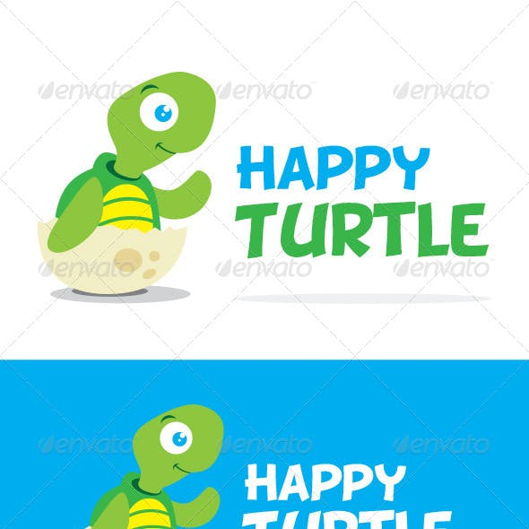 Happy Turtle Logo Template