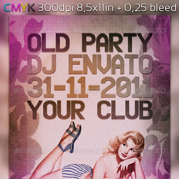 Old Party Flyer