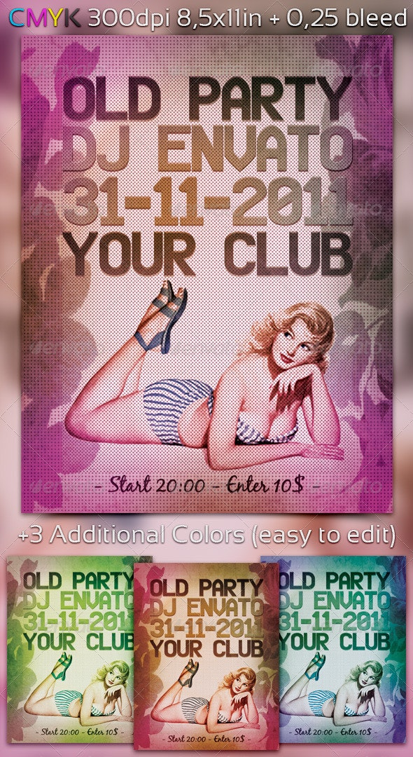 Old Party Flyer - Clubs & Parties Events