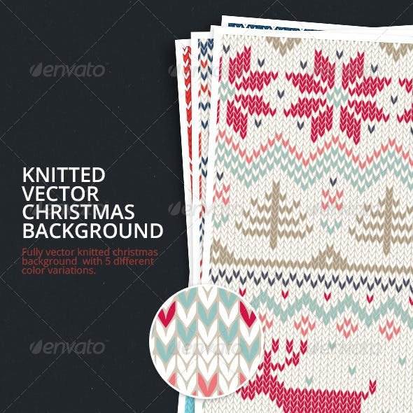 Knitted Vector Christmas Background