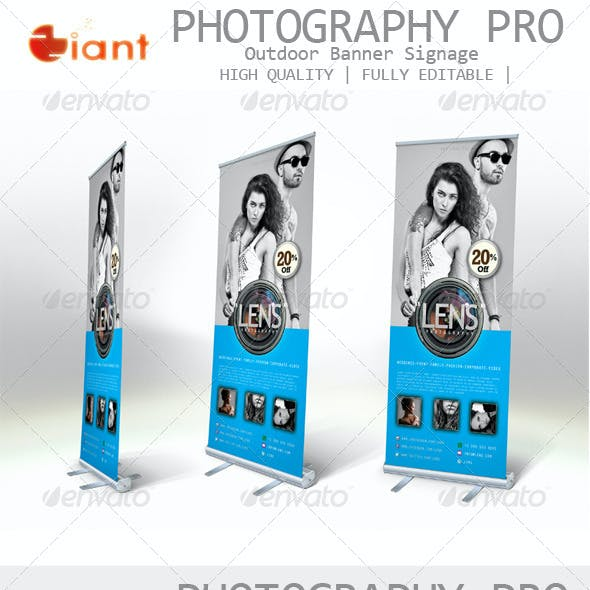 Photography Pro Outdoor Banner Signage