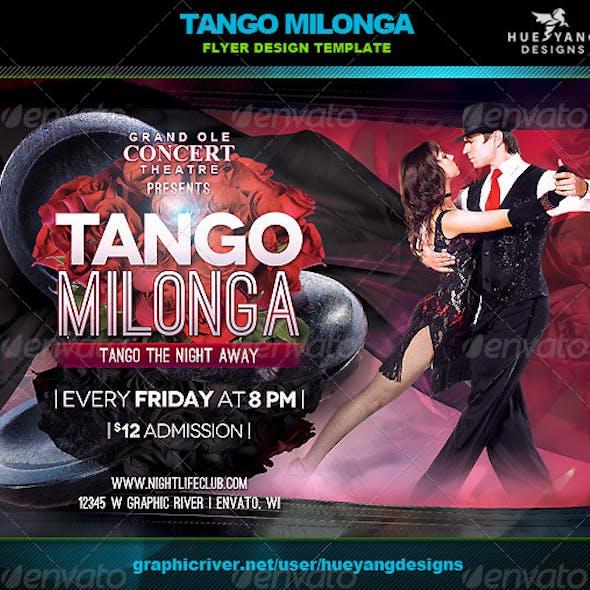 Tango Milonga Flyer