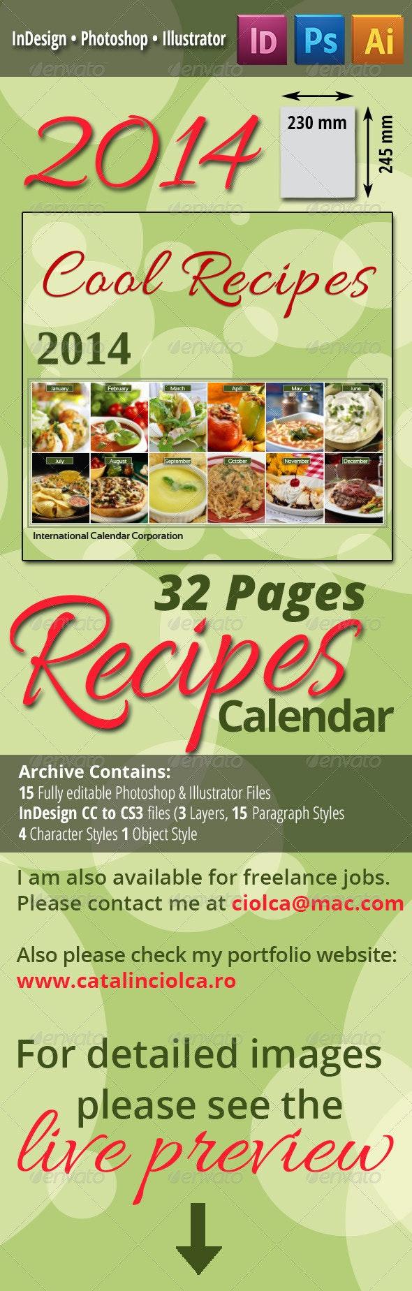 2014 Recipes Calendar - Calendars Stationery