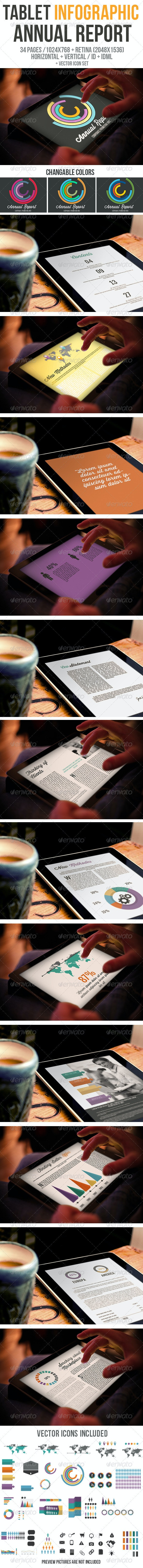 iPad & Tablet Infographic Annual Report