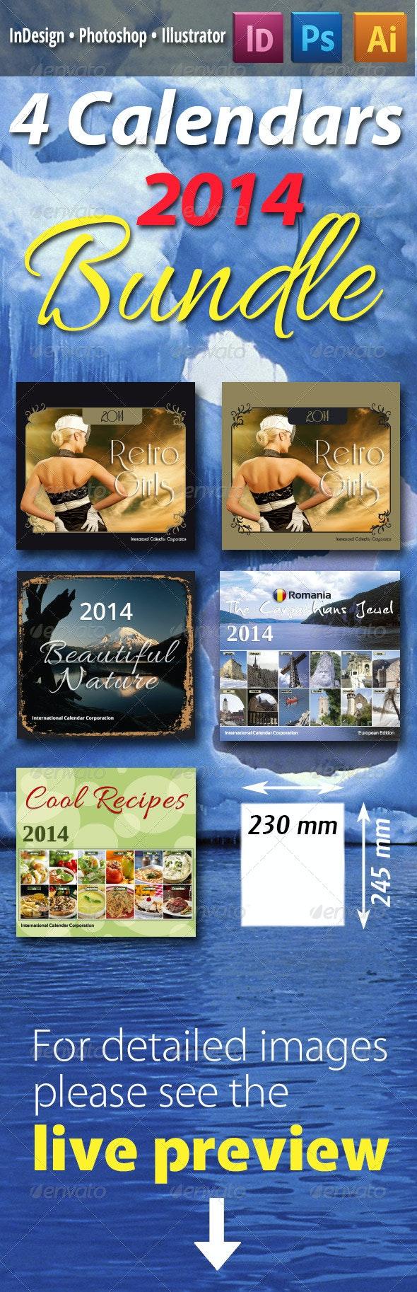 4 Calendars Bundle - Calendars Stationery