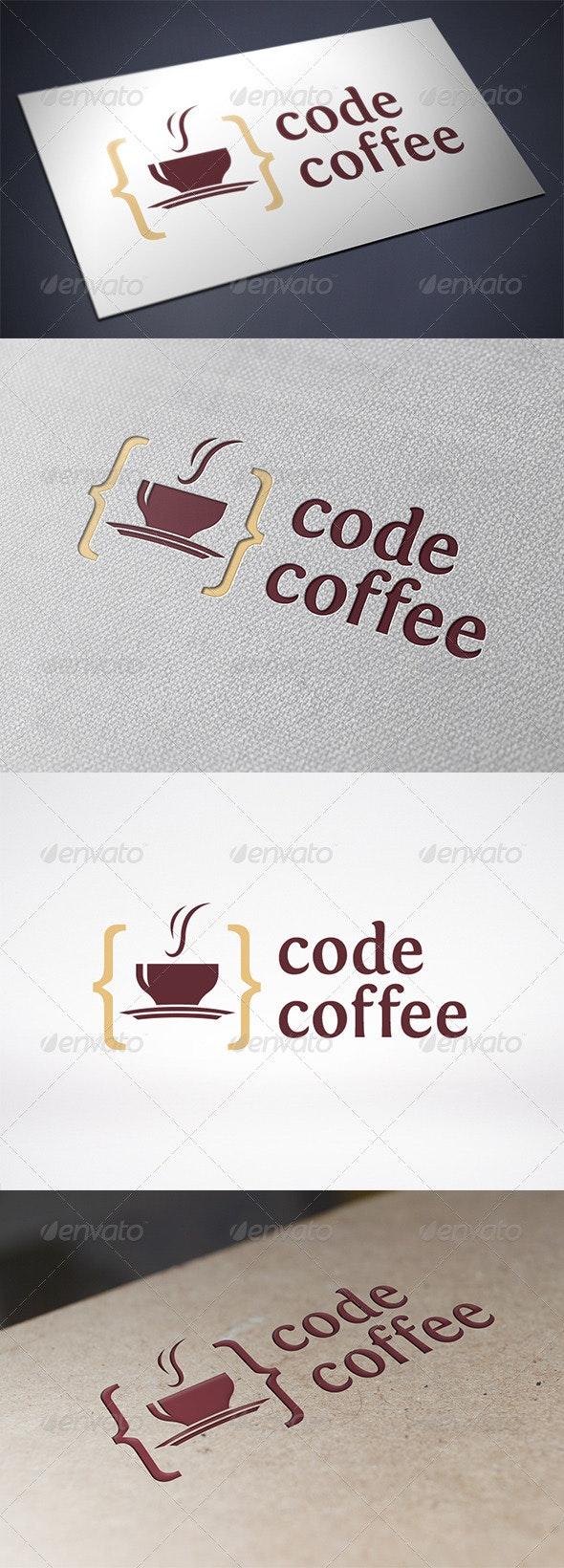 Code Coffee Logo Template - Food Logo Templates
