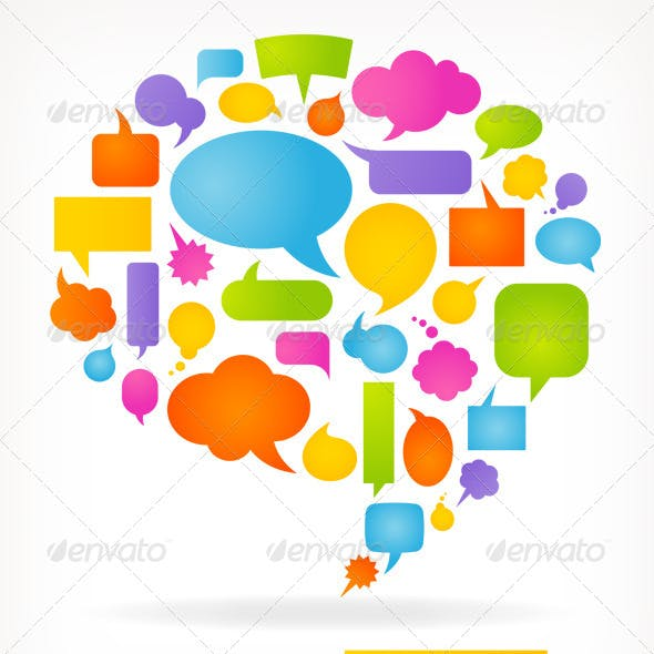 Speech Bubbles Composition