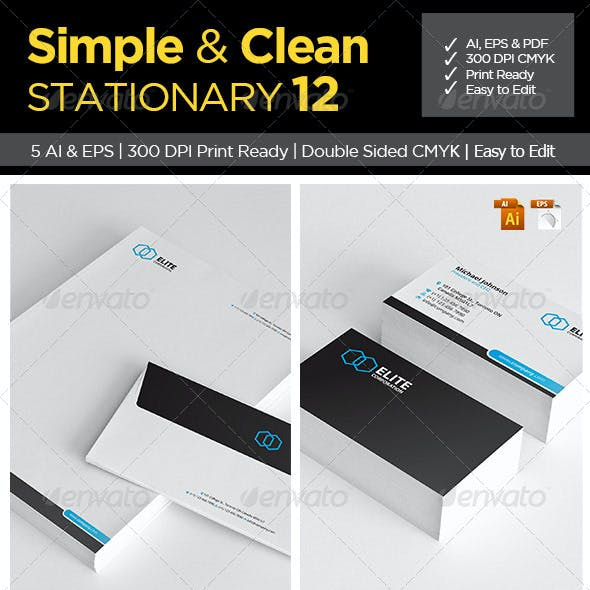 Simple and Clean Stationary 12