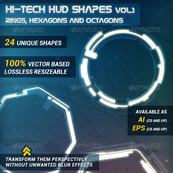 Hi-Tech HUD Shapes Vol.1