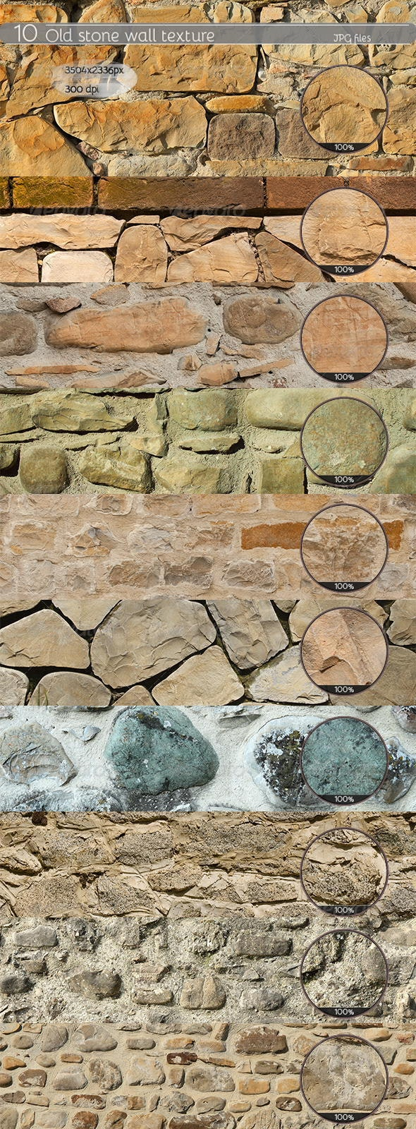 10 Old stone Wall Textures - Stone Textures
