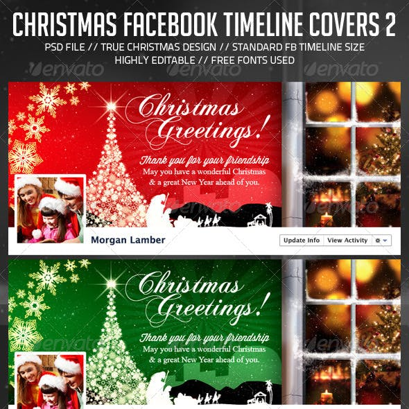 Christmas/Holiday Facebook Timeline Cover V.2
