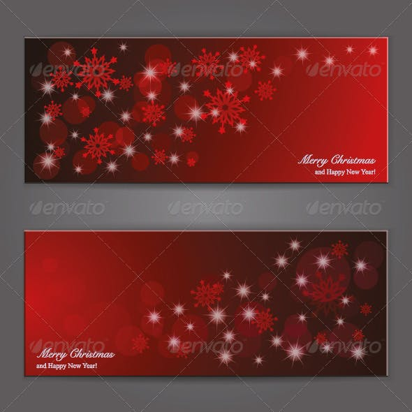 Elegant Christmas Banner with Paper Snowflakes