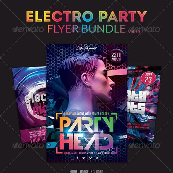 Electro Party Flyer Bundle Vol.3