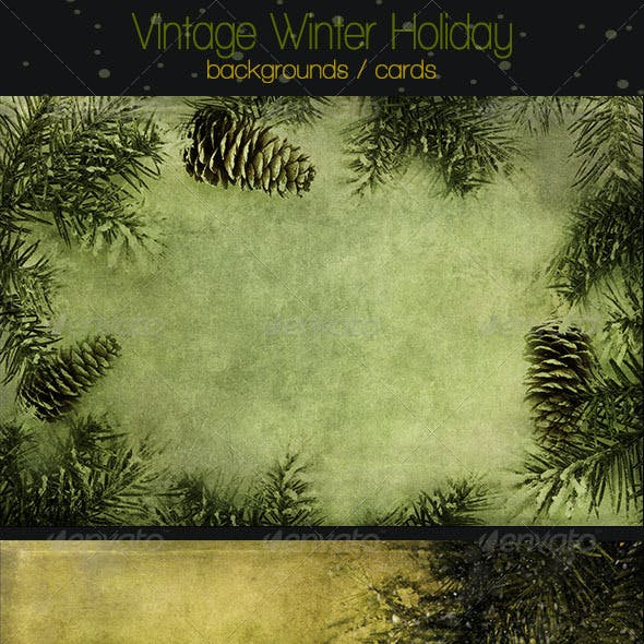 Vintage Winter Holiday Backgrounds