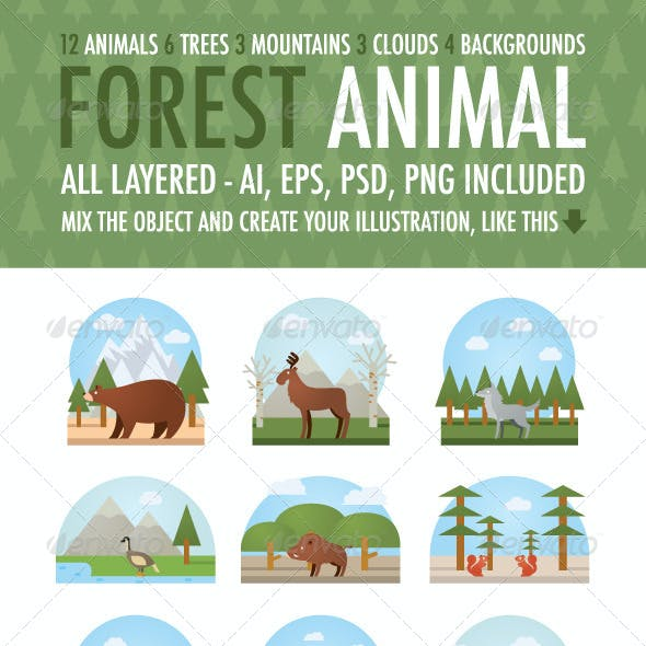 Forest Animal Vector Kit