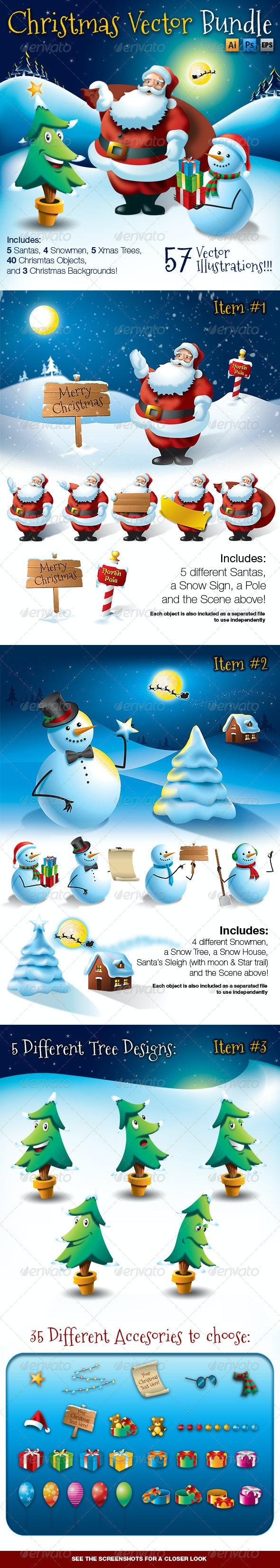 Christmas Vector Bundle - Christmas Seasons/Holidays