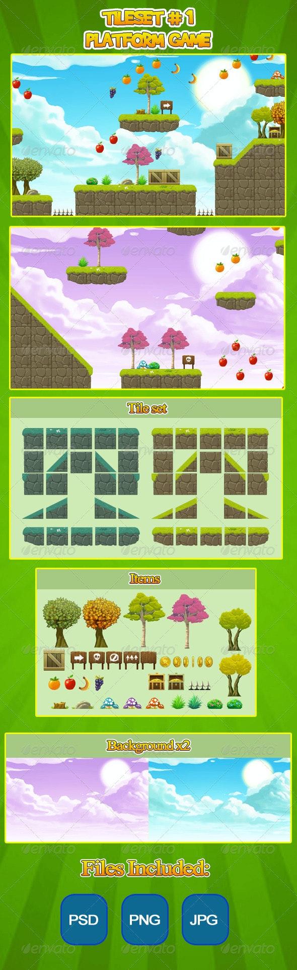 2D Tileset Platform Game  - Tilesets Game Assets