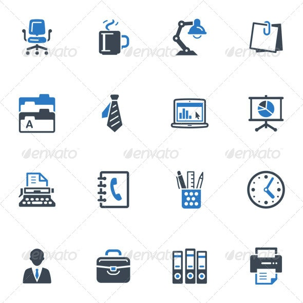 Office Icons-Blue Series - Web Icons