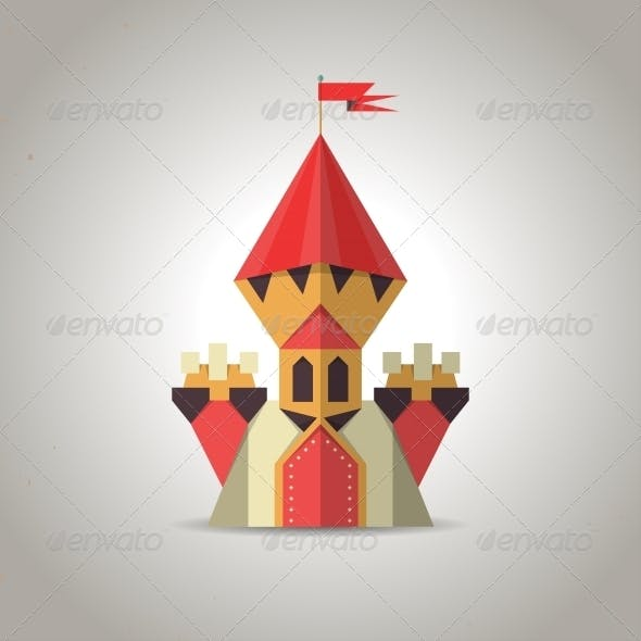 Origami Castle from Folded Paper