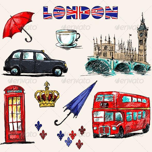 London Symbols. Set of Drawings.