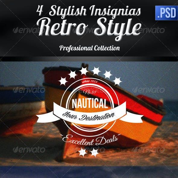 Insignias - Retro Style