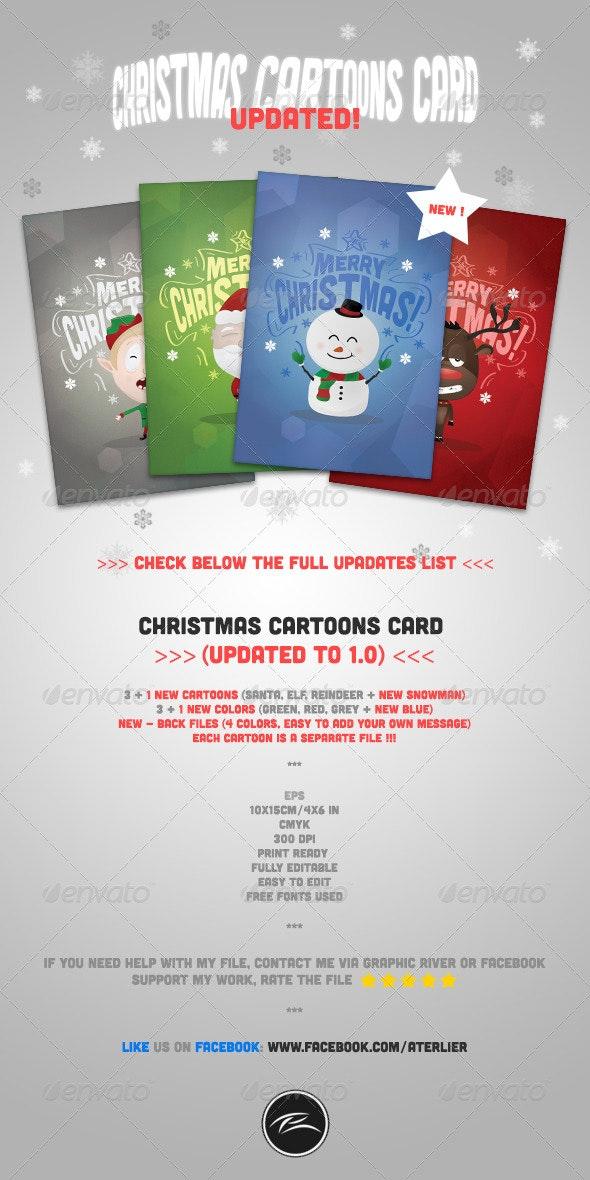Christmas Cartoons Card 1.0 - Holiday Greeting Cards